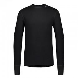 Camiseta negra de manga larga Svala