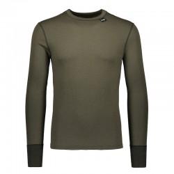 Camiseta de lana merina en verde