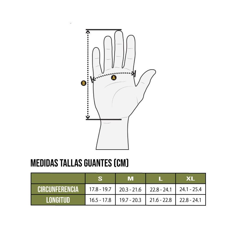 Tabla de tallas guantes Outdoor Research