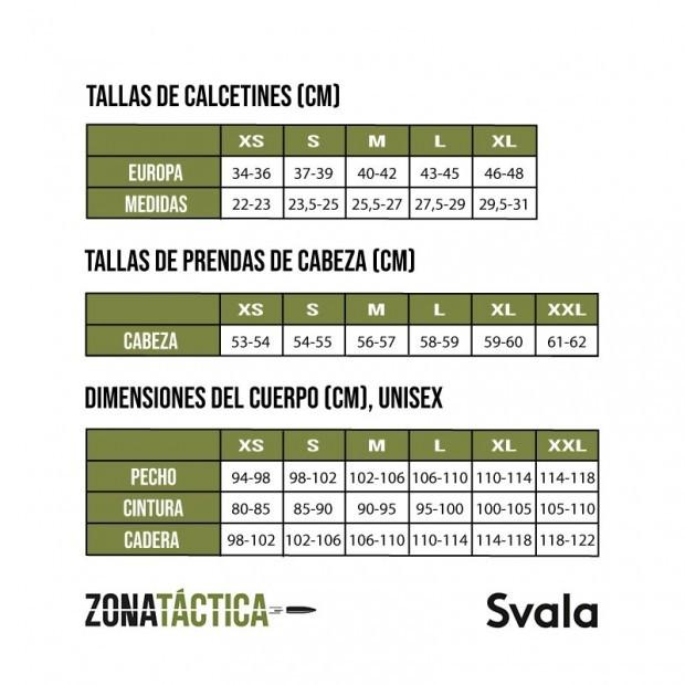 Tabla de tallas Svala