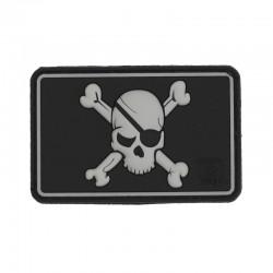 Parche goma con calavera pirata