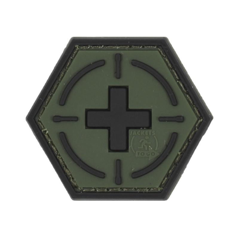 Parche hexagonal de la Cruz Roja