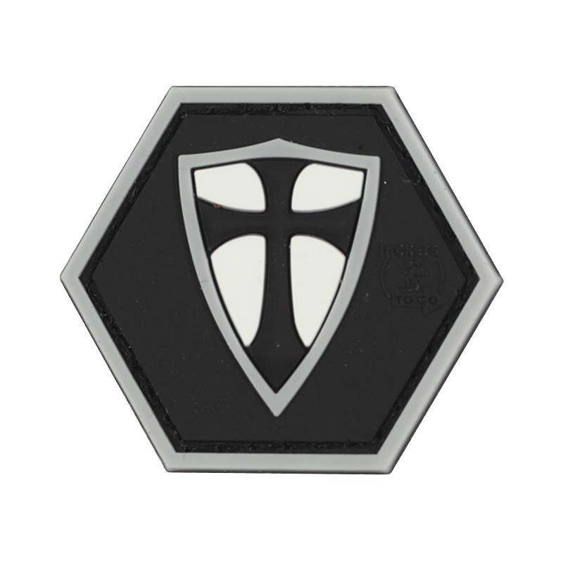 Parche hexagonal Cruz Templaria