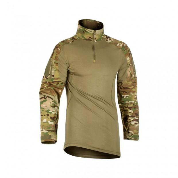 camiseta de combate en multicam