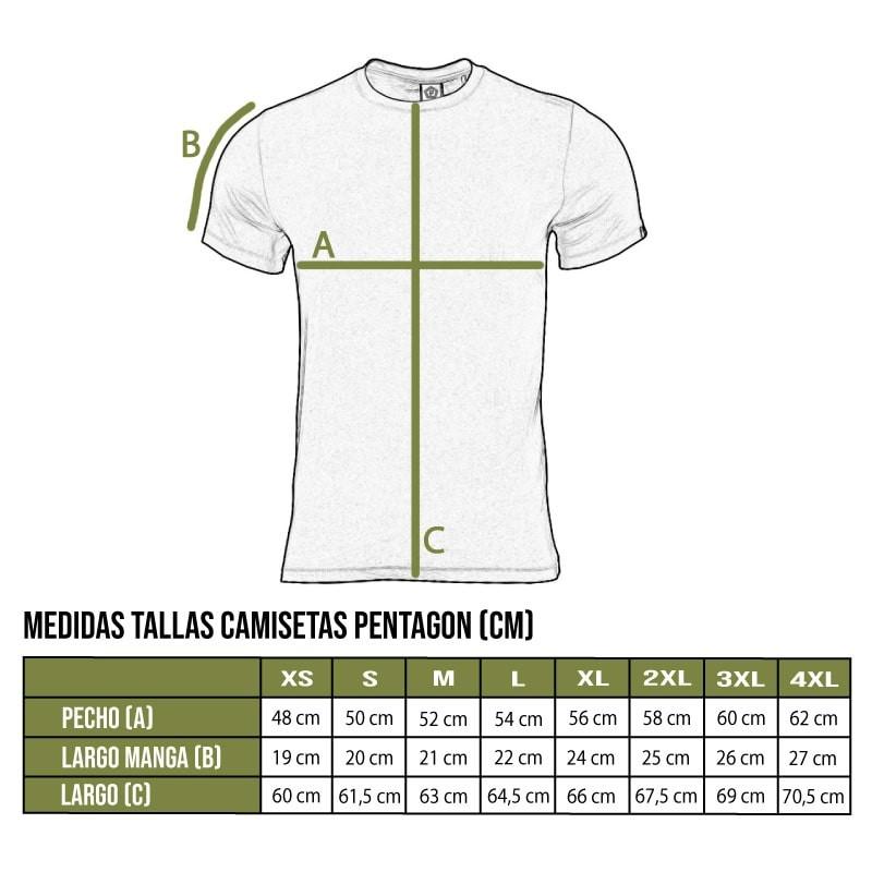 Tabla talla camisetas Pentagon