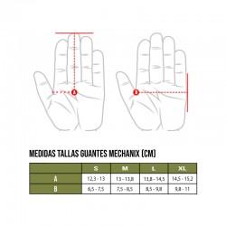Tallas guantes Mechanix