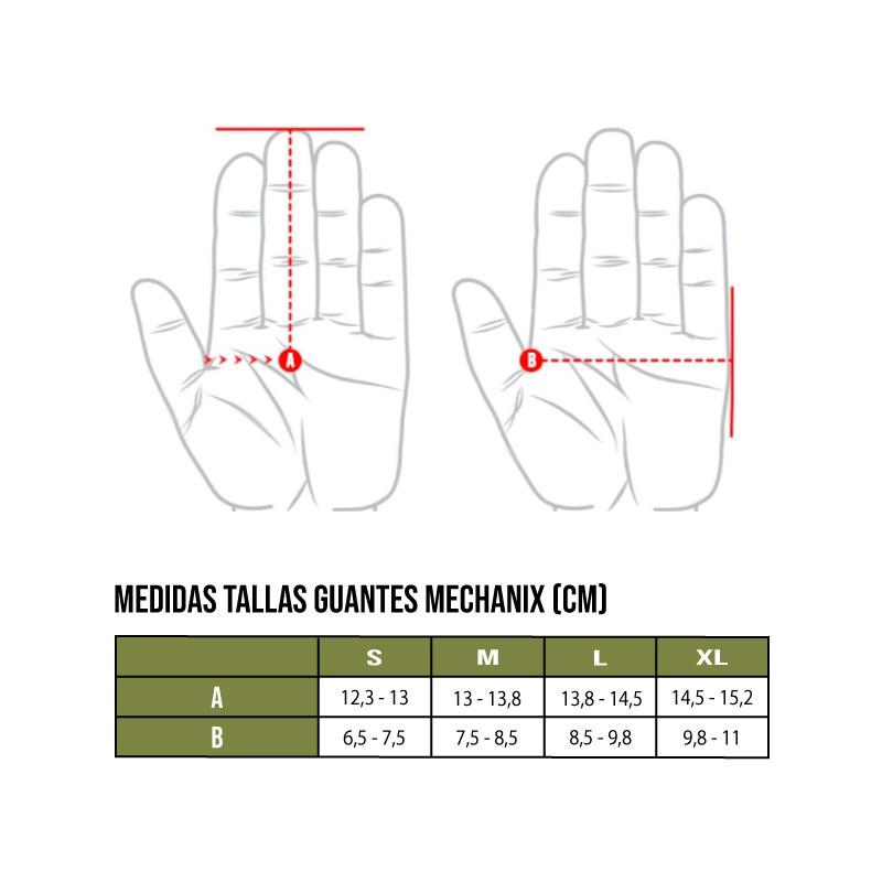 Tallas guantes Mechanix Wear