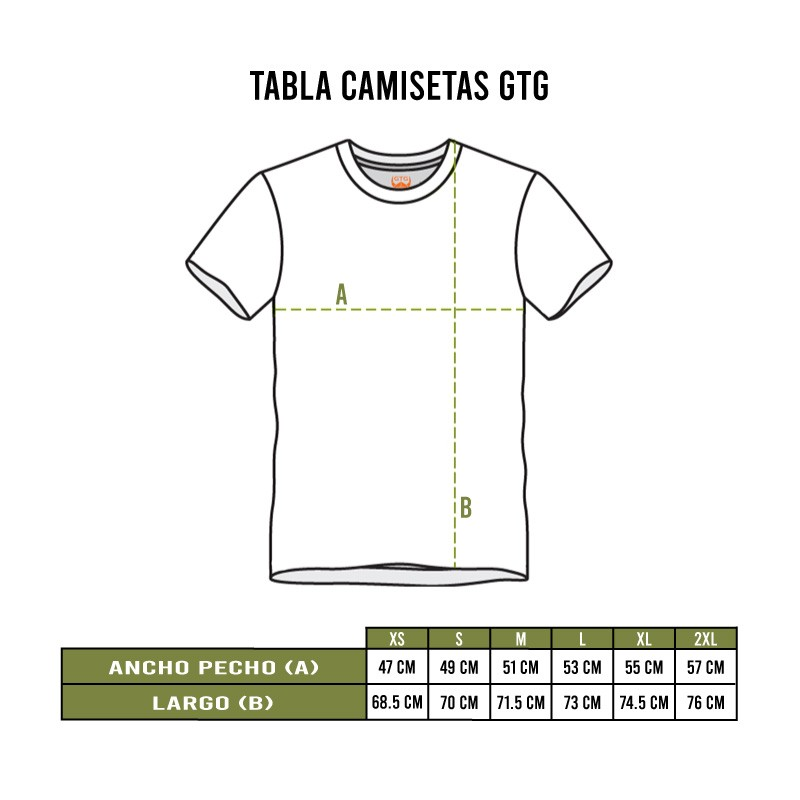 Tallas camisetas GTG