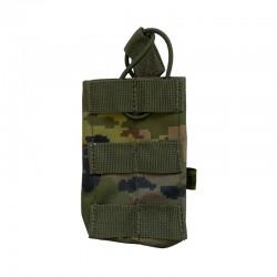 Portacargador simple de fusil boscoso pixelado