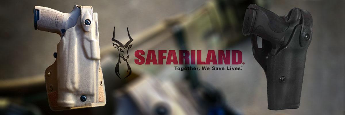 Fundas Safariland con sistema de retención.