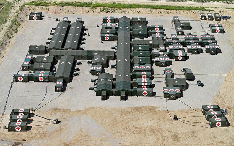 Campamento sanitario militar