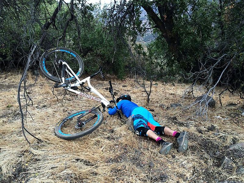caída de bicicleta