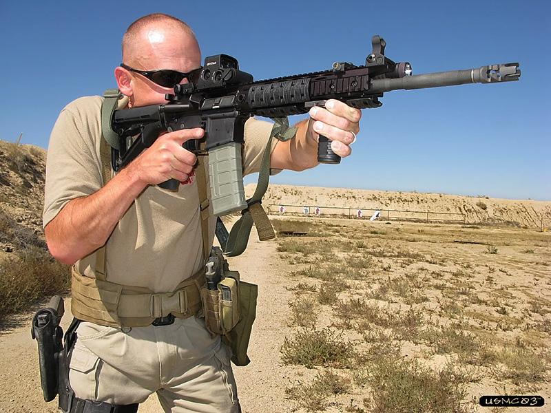 entrenamiento tiro arma larga
