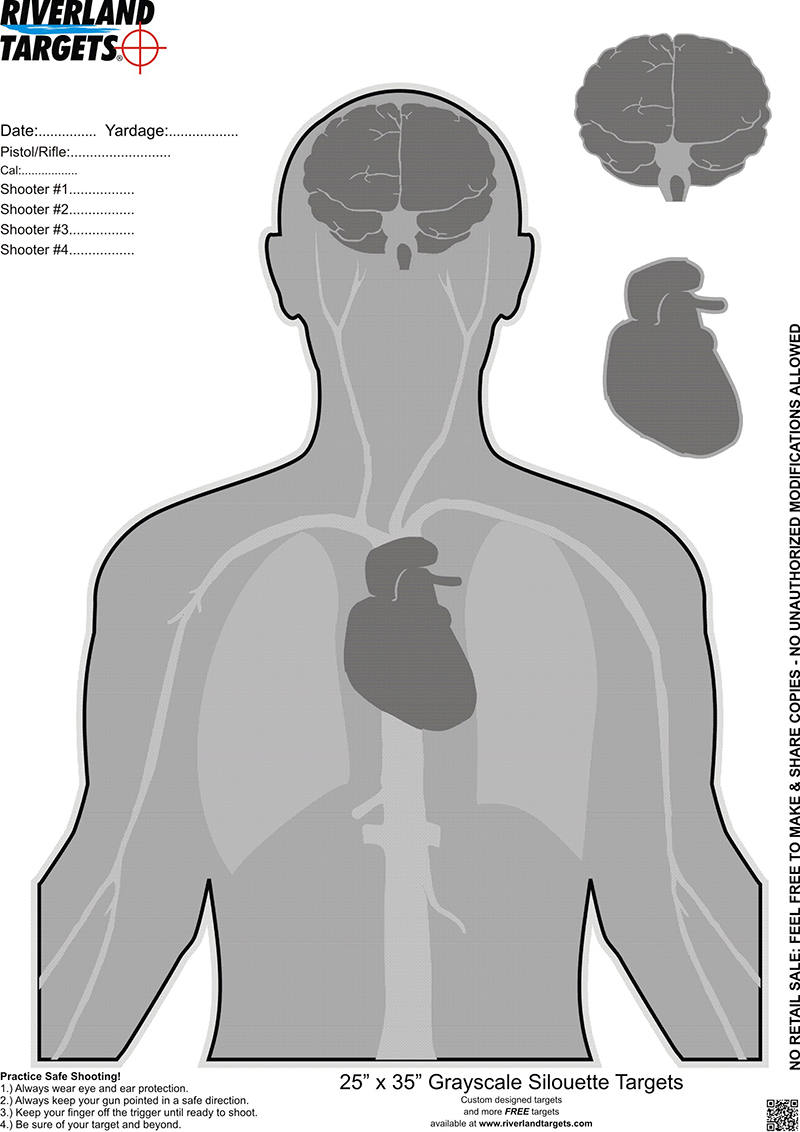 blanco tiro humanoide