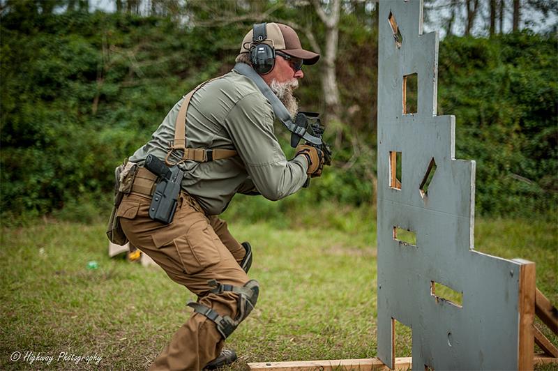entrenamiento para arma larga